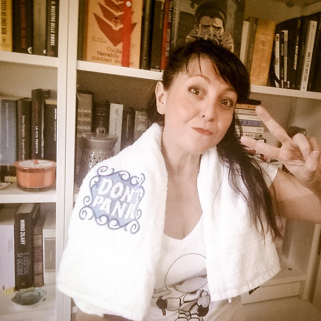 Katya, happy towel day