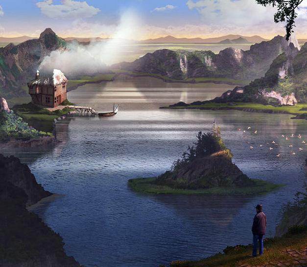 Lake Isle of Innisfree, illustrazione